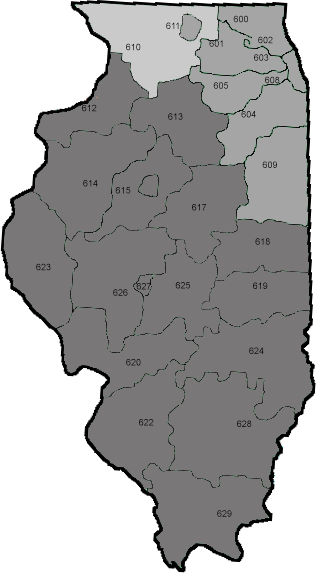 Antioch Il Zip Code Map.Illinois Service Zip Codes Ultimate Freightway
